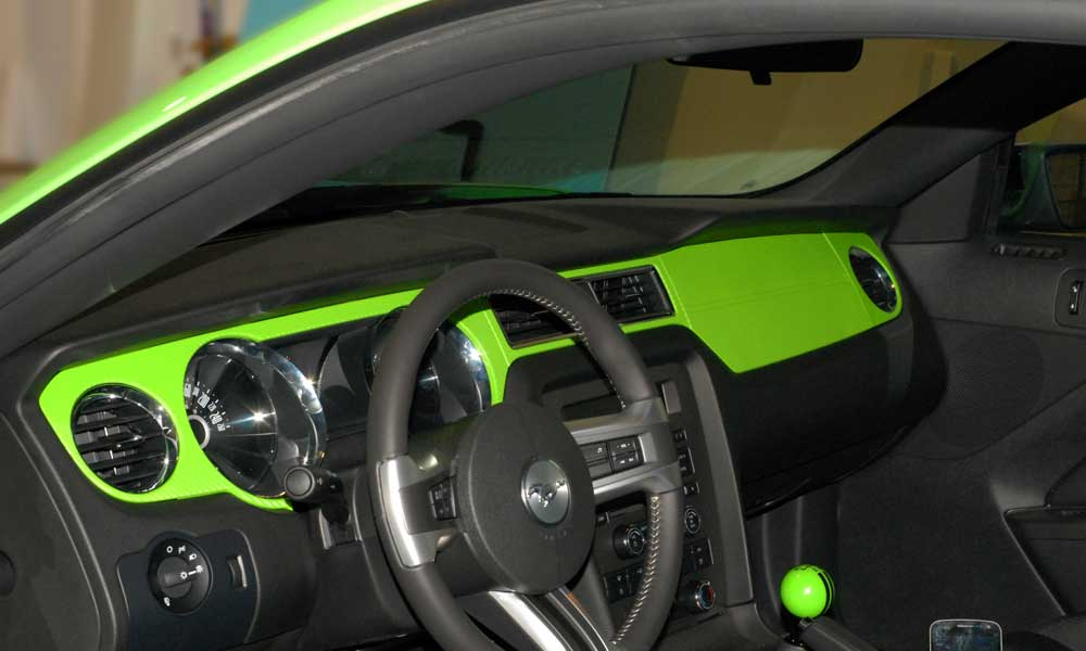 Green Carbon Fiber Dash