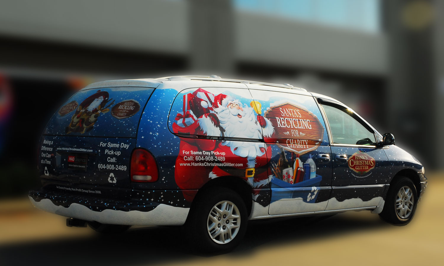 3M Full Van Wrap - Hanks Christmas Glitter